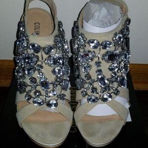 Nude crystals heels